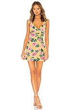 Privacy Please Cameron Mini Dress in Orange Lindsay Floral