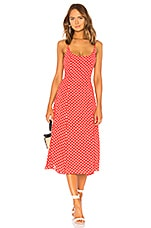 Privacy Please Mayland Midi Dress in Rust Dot