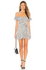 Privacy Please Bellview Mini Dress in Black & White