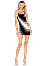 Privacy Please Angie Dress in Navy Metallic Stripe