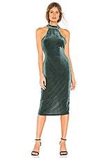 Privacy Please Blythe Midi Dress in Moss Green