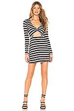 Privacy Please Devon Mini Dress in Metallic Stripe