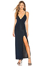 Privacy Please Lawrence Maxi Dress in Blue Metallic