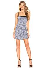 Privacy Please Barrett Mini Dress in Blue & Black Plaid