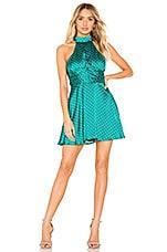 Privacy Please Isabella Mini Dress in Everglade Green Dot