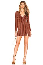 Privacy Please Curtis Mini Dress in Tan Stripe
