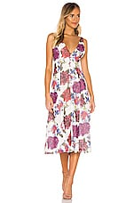 Privacy Please Reina Midi Dress in Lilac Floral