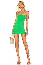 Privacy Please Aiden Mini Dress in Palm Green