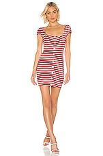 Privacy Please Kai Mini Dress in Red Stripe