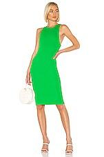 Privacy Please Dawn Midi Dress in Palm Green
