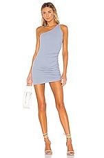 Privacy Please Aisha Mini Dress in Steel Blue