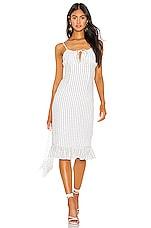 Privacy Please Hanna Midi Dress in Black & White