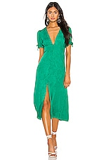 Privacy Please Leandra Midi Dress in Emerald Green