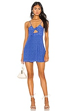 Privacy Please Cabana Mini Dress in Blue Floral