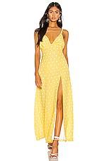 Privacy Please Tatiana Maxi Dress in Yellow & White Dot