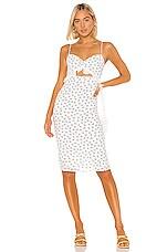 Privacy Please Tristen Midi Dress in Navy & White