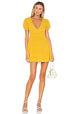 Privacy Please Lilah Mini Dress in Golden Yellow
