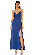 Privacy Please Jolie Maxi Dress in Quartz Blue