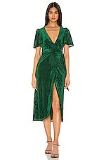Privacy Please Rina Midi Dress in Emerald Green