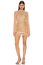 Privacy Please Jasmyn Mini Dress in Nude & Black