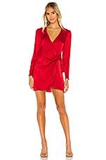 Privacy Please Scarlett Mini Dress in Ruby Red