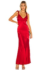 Privacy Please Nina Maxi Dress in Ruby Red