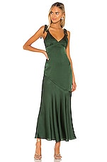Privacy Please Nina Maxi Dress in Evergreen