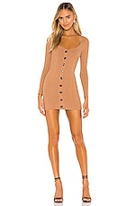Privacy Please Crosby Mini Dress in Brown Taupe