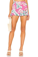 Privacy Please Margaux Short in Pink Tropical Floral