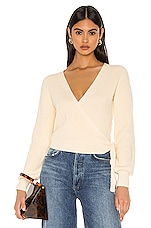 Privacy Please Alona Wrap Sweater in Ivory