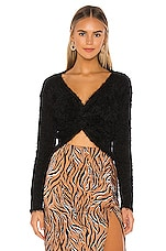 Privacy Please Kayley Twist Front Sweater in Black