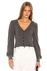 Privacy Please Aiden Sweater in Charcoal Grey