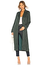 Privacy Please Tessa Trench Coat in Forest Green