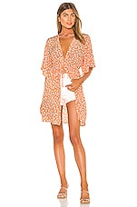 Privacy Please Isla Kimono in Orange Cabana Floral