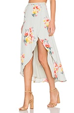 Privacy Please Java Wrap Skirt in Mint