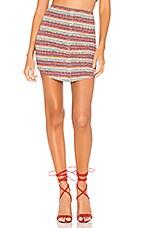 Privacy Please Hope Skirt in Neon Orange Multi