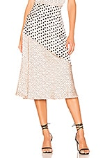 Privacy Please Monterey Midi Skirt in Nude & Black