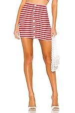 Privacy Please Pacifico Mini Skirt in Red Stripe
