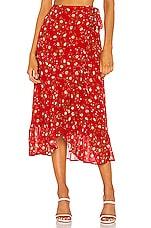 Privacy Please Clarita Midi Skirt in Red Emma Floral