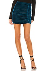 Privacy Please Skyler Mini Skirt in Aqua Blue