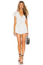 Privacy Please Raylyn Romper in Ivory & Black