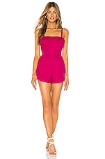 Privacy Please Hawthorn Romper in Bright Pink