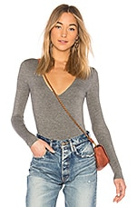 Privacy Please Akron Bodysuit in Charcoal