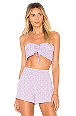 Privacy Please Robin Top in Lilac Dot