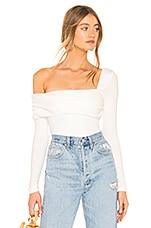 Privacy Please Florence Bodysuit in White