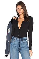 Privacy Please Peoria Bodysuit in Black