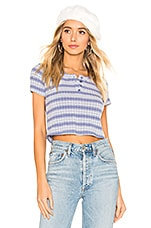 Privacy Please Atwater Top in Blue Ombre