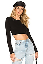 Privacy Please Mandy Top in Black