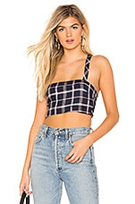 Privacy Please Scout Top in Pink & Navy Plaid
