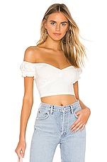 Privacy Please Courtney Top in White